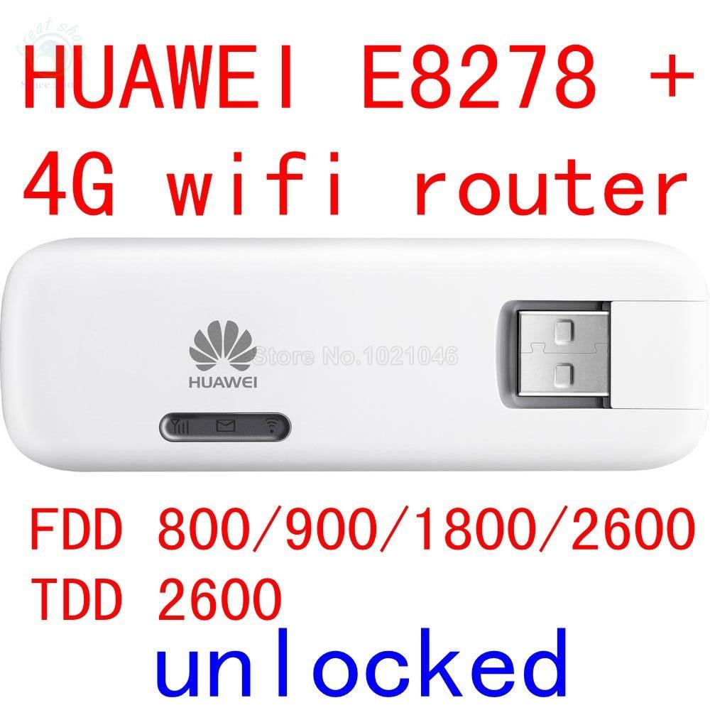 Unlocked Huawei E8278 E8278S-602 4G lte modem + wifi router 150Mbps lte 4g USB Wifi Modem 4g wifi Dongle pk E3276 E398 E392 цена
