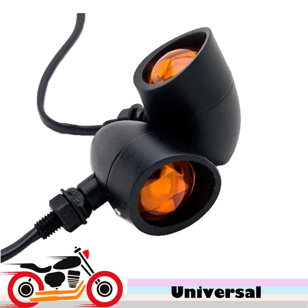 2X אופנוע קליע אותות איתות אורות 12v מחוון עבור הונדה VT צל רוח Velorex דלוקס 600 750 1100