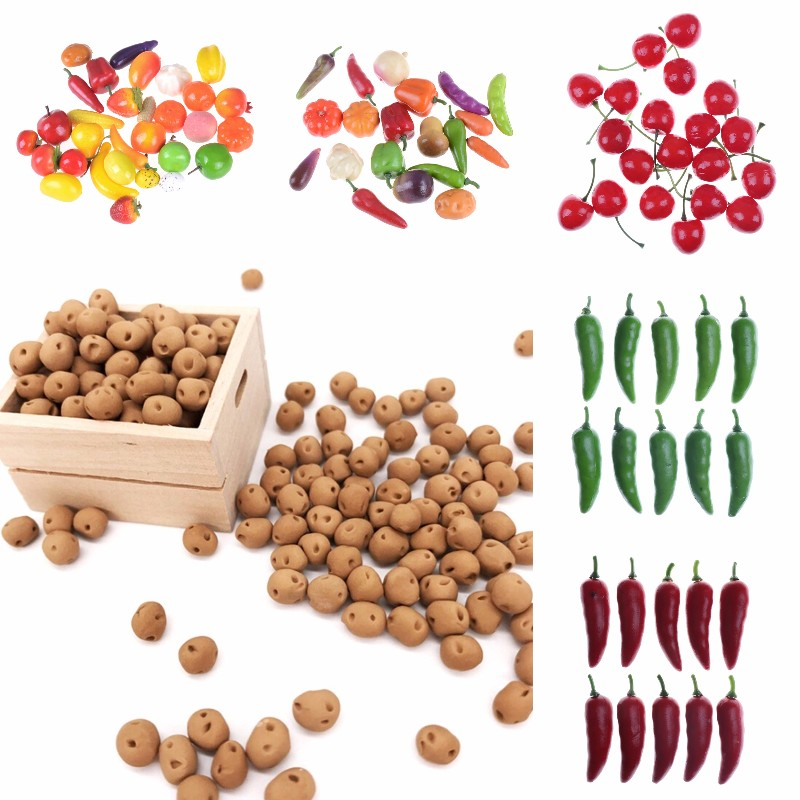 10Pcs/lot Kitchen Toys Foam Mini Simulation Artificial Fruits And Vegetables For Children Pretend Play Toys Hot Sale