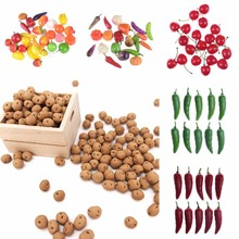 10Pcs/lot Kitchen Artificial Fruit and Vegetables Pretend Play Toys