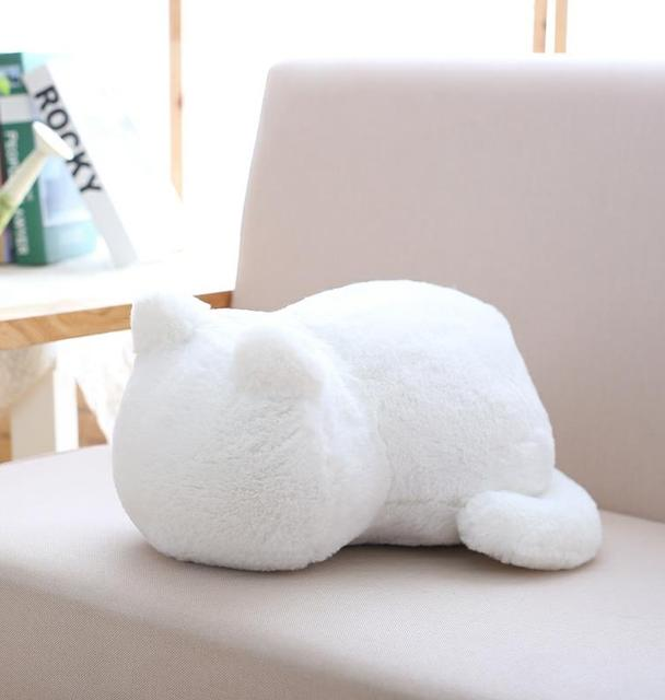 33cm Kawaii Plush Cat Toys Staffed Cute Shadow Cat Dolls Kids Gift Doll Lovely Animal Toys 3 Colors Home Decoration Soft Pillows