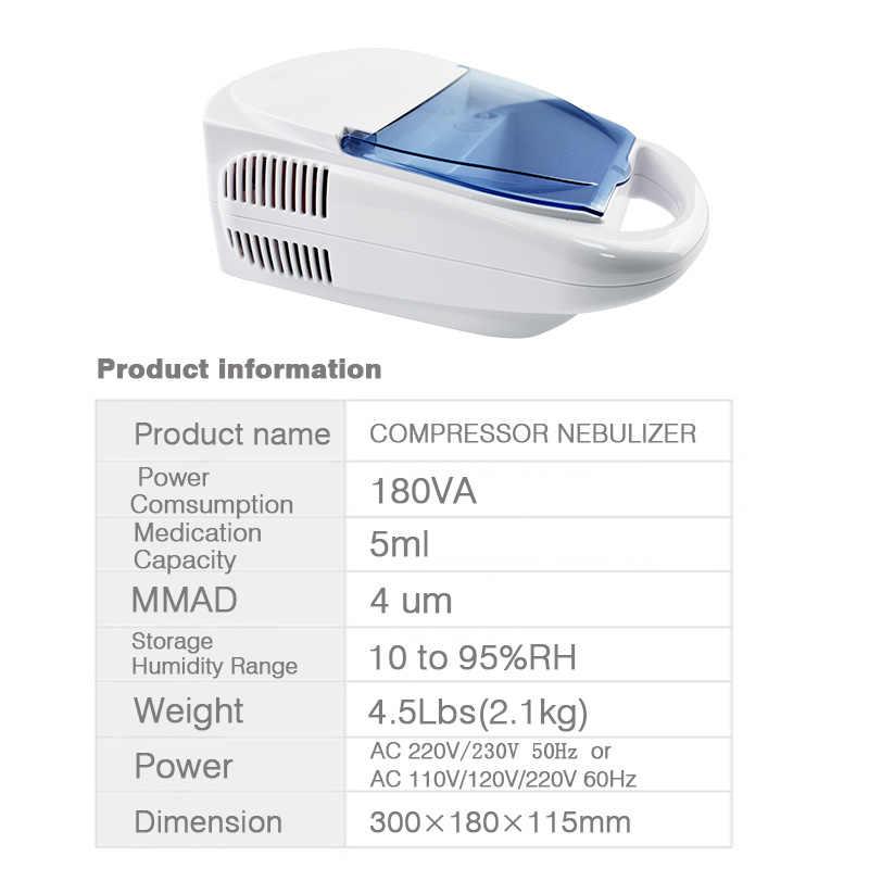 Family Compressor Nebulizer Children Adult Health Care Allergy Relief  Respiratory Medicine Inhaler Aerosol Medication Therapy