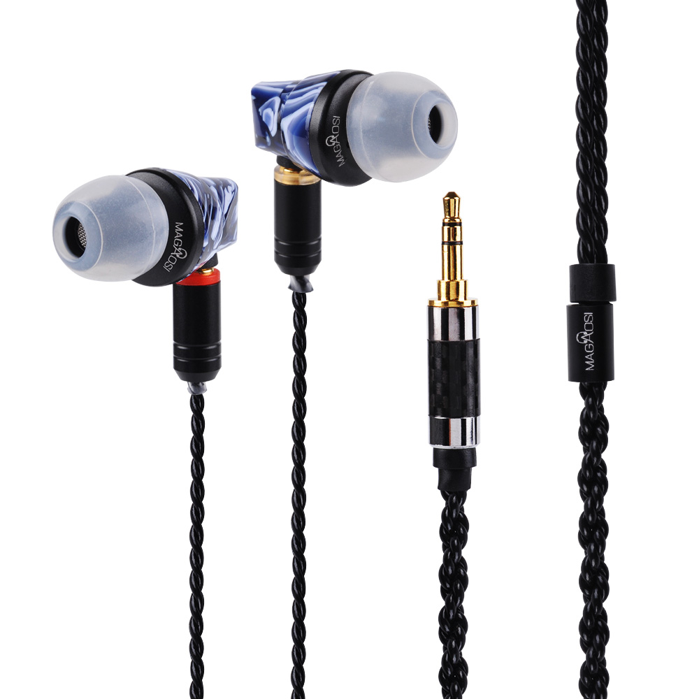 New Magaosi BK50 Wooden Pink MMCX 1DD+1BA Hybrid Balance Armature With Dynamic IEMS HI-FI In Ear Earphones Earbuds Clear Sound magaosi k3 pro 2 balanced armature 1 dynamic 2 ba 1dd hybrid iem hi fi dj music audiophile in ear earphone with mmcx interface