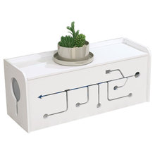 PVC Material Wire Storage Box Cable Manager Organizer Box Power Line Storage Cases Junction Box Household Accessories JJ239