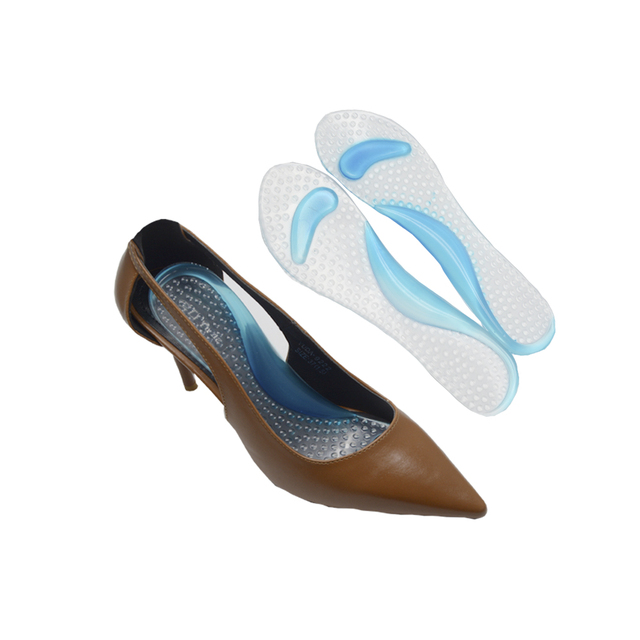 ea6af442c3 1Pair Soft Gel Insole 3/4 Lady Shoe Pad With Non-Slip Arch Support And  Cushion Orthotics Foot Care Tool Massager Washable C591