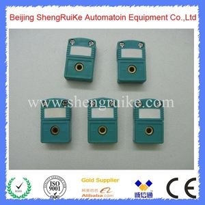 Image 5 - Mini Thermocouple Connector K  OMEGA type Green Color Flat pin Male and Female