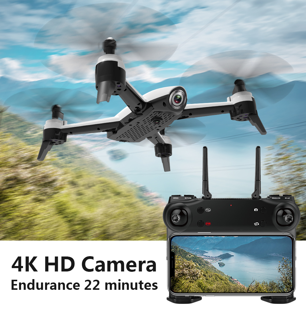 SG106 WiFi FPV RC Drone 4 K caméra flux optique 1080 P HD double caméra aérienne vidéo RC quadrirotor avion Quadrocopter jouets enfant - 2