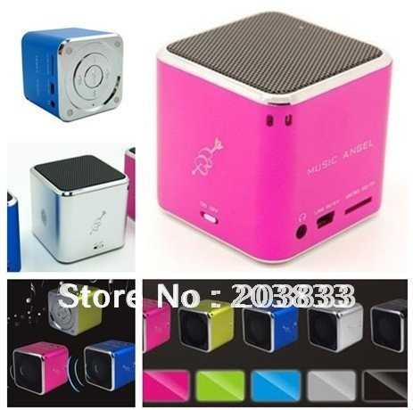 New  Mini USB Micro SD/TF Mp3 Player without screen&Portable computer speaker + Free shipping