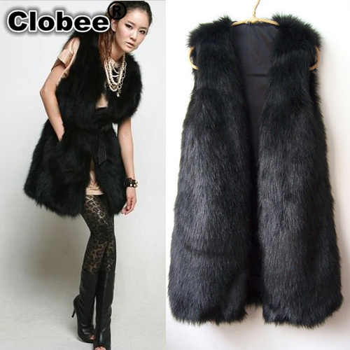 e20f2515793 2018 colete de pele feminina winter ladies Furry jacket women faux fur coat  women fur vest