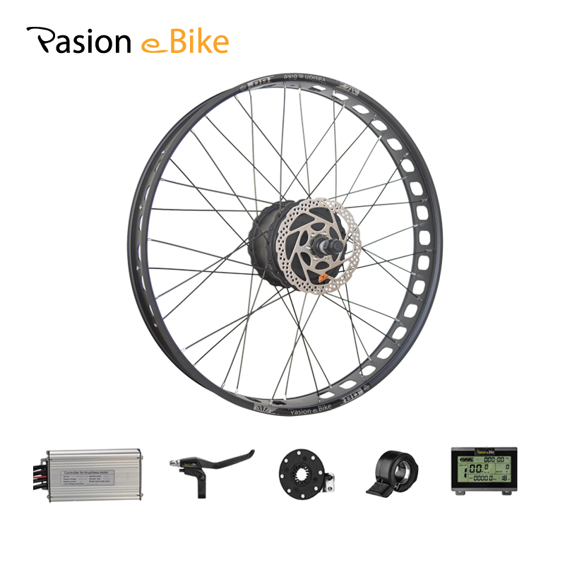 PASION E BIKE 48V 1000W Electric Bicycle Fat Bike Conversion Kit 26 Wheel Motor for 190mm Brushless Gear Hub Motor pasion e bike 48v 1500w motor electric bike kit electric bicycle conversion kits for 20 24 26 700c 28 29 rear wheel fiets