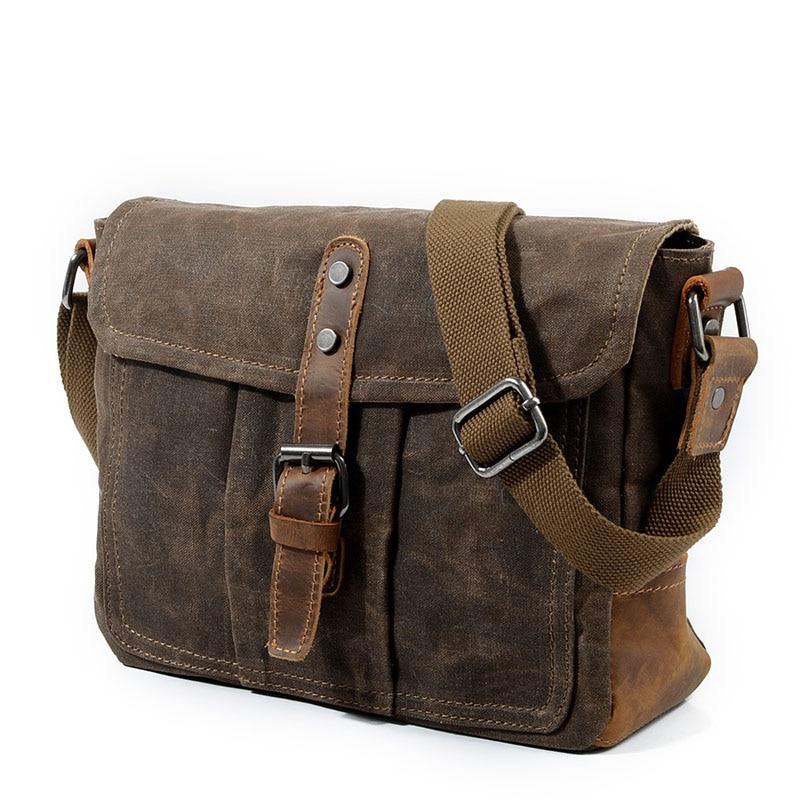 f80aedff2bee AUGUR, брезентовые сумки на плечо, сумка для Для мужчин сумка Винтаж  портфель мужские классические