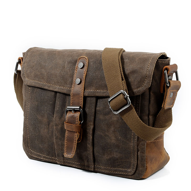 AUGUR Canvas Messenger Bag For Men'S High-Quality Vintage Satchel Man Classic Hasp Shoulder Crossbody Bags Male Schoolbag Tassen