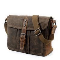 AUGUR Canvas Messenger Bag For Men's Shoulder bag Vintage Satchel Man Classic Hasp Crossbody Bags Male Schoolbag Bolso Hombre