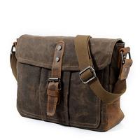 AUGUR Canvas Messenger   Bag   For Men'S High-Quality Vintage Satchel Man Classic Hasp Shoulder Crossbody   Bags   Male Schoolbag Tassen