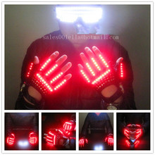 New Hot Dance Red LED Gloves Light Club Show Light Great Pub Party Devices LED Luminous Garment Stage Props Party Supplies