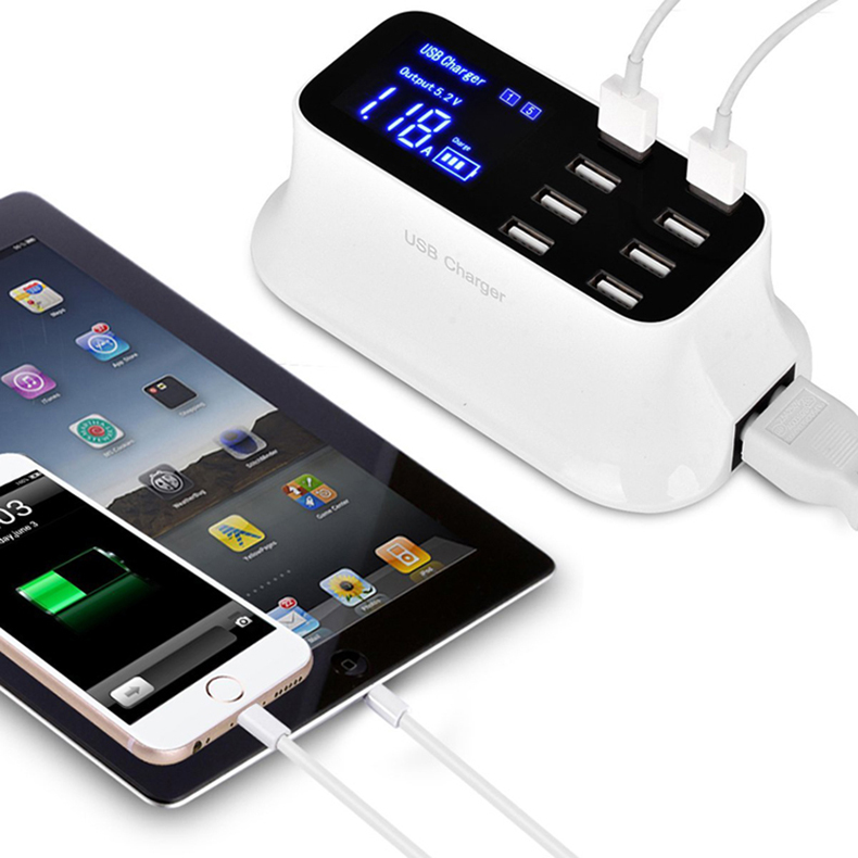 Universal 8 Ports Smart USB Charger Station Hub Led Display charger (18)