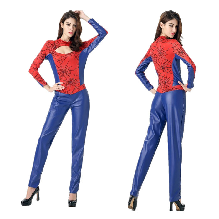 Sexy Women Halloween Party Cosplay Superhero Cosplay Jumpsuits Superman Costume Spider-Man Cosplay Costumes Adult Superhero Cos