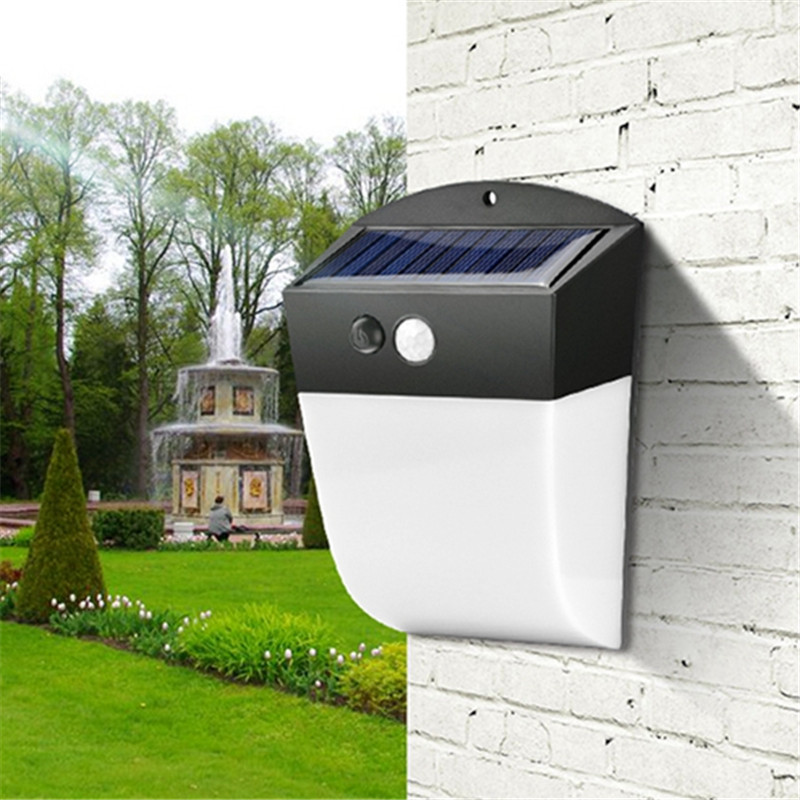 4.8W 24 LED Wireless Solar Power Light PIR Motion Sensor Outdoor Waterproof For Street Garden Security Wall Lamp With 4 Mode