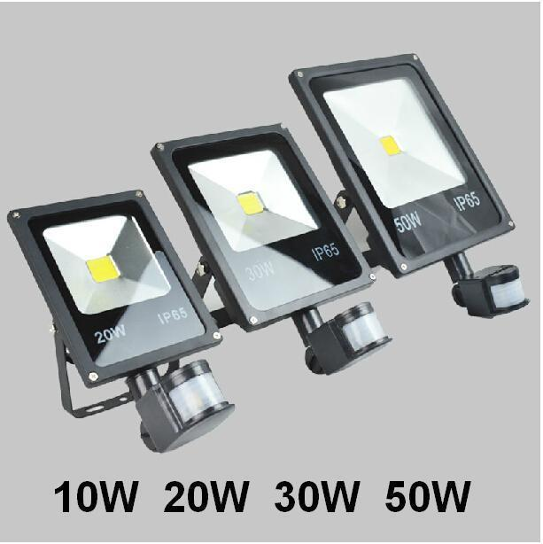 (Free Express) 85-265v 10W 20W 30W 50W 70W 100W Outdoor LED Flood light lamp with Motion detective Sensor PIR LED Floodlight free dhl fedex 85 265v 10w 20w 30w 50w 70w 100w pir led floodlight with motion detective sensor outdoor led flood light spot