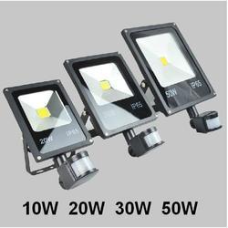 AC 85-265v 10W 20W 30W 50W 70W 100W zewnętrzna lampa reflektor LED z czujnikiem ruchu Detective reflektory PIR LED Floodlight