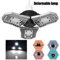 JIAWEN Deformable Garage Light 60W E27 LED Ceiling Light for Garage/ Attic / Basement / Home LED Mining lamp