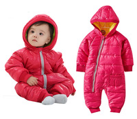 Warm Baby Boy Rompers Children's Overalls Cotton Padded Outwear Kids Snowwear Newborn Baby Girl Jumpsuits Toddler Down Parkas
