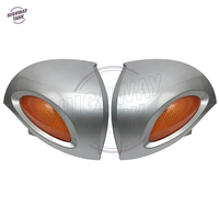 Silver Motorcycle Rear View Mirrors Turn Signals Lights Cover Motocross Mirror Shell Case for BMW R1100 RT R1100 RTP R1150 RT