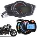 Motorcycle Black 12000 RPM Multi Function Odometer Speedometer Tachometer Gauge