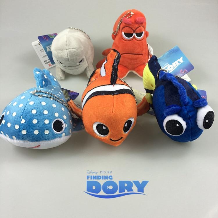 13 Cm Findet Nemo Clownfish Dory Anime Plüsch Puppen Ornament Puppe Kette Anhänger Nette Cartoon Spielzeug Weihnachten Geschenke Neue Plüsch-schlüsselanhänger