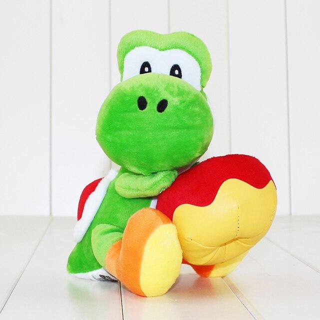4fc3a283fedb2a 17 cm Yoshi met Apple Pluche Doll Toy Super Mario Yoshi Knuffel Kerstcadeau  voor Kinderen