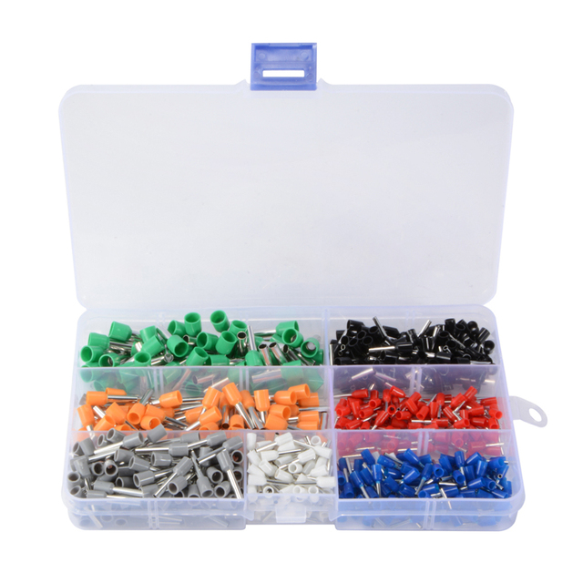 ALLSOME 600Pcs Wire Ferrules Crimp Terminal Connector 10# 22# AWG ...