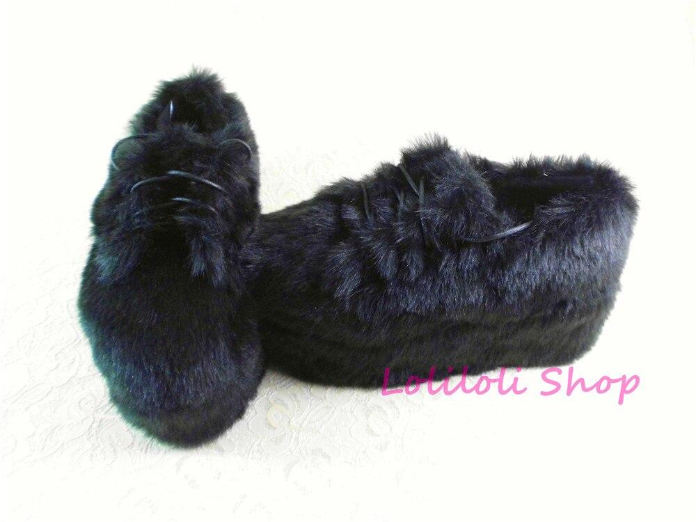 Princesse douce lolita chaussures Lolilloliyoyo antaina design japonais personnalisé fond épais noir daim plate plate-forme chaussures an9618-2