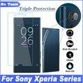 Ultra thin TPU Soft Case For Sony Xperia XZ XA Х Компактный E5 Z5 Z4 Z3 Z2 Z1 Z M5 M4 Объектив Камеры Спереди Назад Закаленное Стекло Фильм