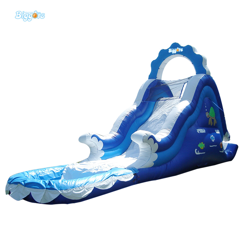 цена Inflatable Biggors Giant Inflatable Slip Slide Inflatable Water Slide With Pool For Amusement Park