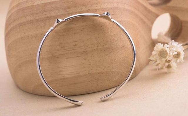Women's Bracelet with Cat Paw and Ears