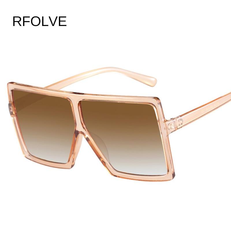RFOLVE Oversized gafas de sol mujer marca diseñador gran marco ...