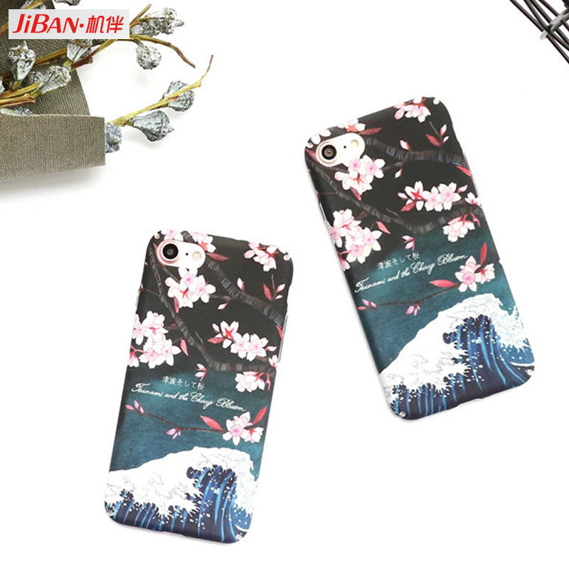 Sakura Hard Frosted Phone Case For iphone 7 Cute Cartoon Flower Full Protect Phone Cases For iphone7plus 6 6S PLus Cover