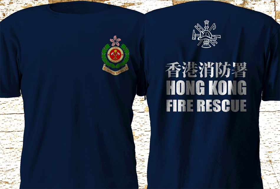 <font><b>Hongkong</b></font> Fire Rescue Department Firefighter 2019 New Hot Sale Mens Short Sleeves Male Basic Tops Famous <font><b>T</b></font> <font><b>Shirt</b></font> Design image