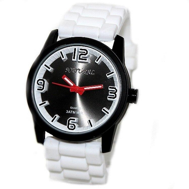 FW848B Водонепроницаемые часы с белым силиконовым ремешком для мужчин и женщин, 100% протестированные, 3АТМ. Модные часы.