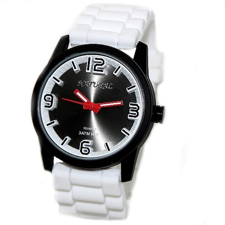 Luxury Brand Unisex Analog Quartz Round Watch Japan PC21J Movement White Soft Silicone Strap Black Dial Water Resistant ultra luxury 2 3 5 modes german motor watch winder white color wooden black pu leater inside automatic watch winder