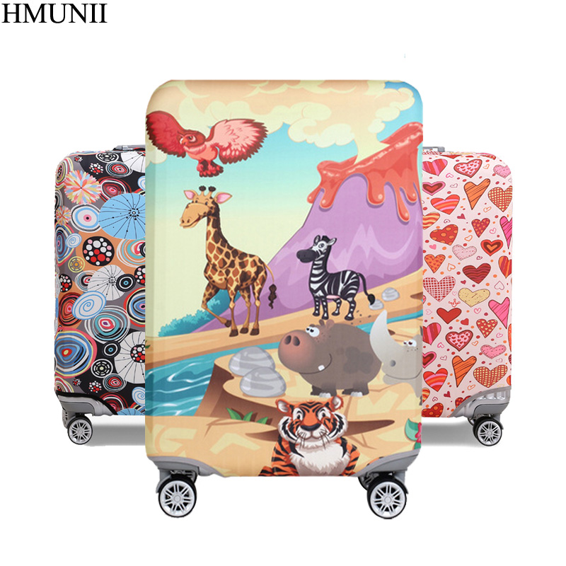 HMUNII New elastic protective cover luggage cover travel accessories 18 to 32 inch travel trolley suitcase case dust cover A1-15 travel accessories fashion striped suitcase protection cover 18 32 inch trolley dust cover suitcase protective cover