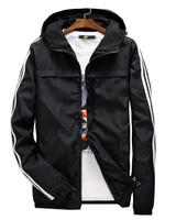 yizlo jacket windbreaker men women jaqueta masculina striped college jackets