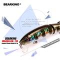 Venta al por menor Bearking 2017 modelo caliente Señuelos de Pesca cebo duro 113mm 13,7g minnow equipada calidad profesional negro o blanco ganchos