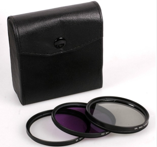 62mm Filter kit set 62 mm UV FLD CPL Circular+Filter Case wallet bag for Camera canon nikon sony lens free tracking number
