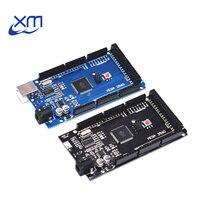 1 шт. Мега 2560 R3 CH340G/ATmega2560-16AU MicroUSB. Совместимость для Mega 2560 с Загрузчиком (синий/черный) для Arduino