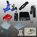 Complete Tattoo kits tattoo guns machine black tattoo machine power supply disposable needle free shipping 1100635-3kitA