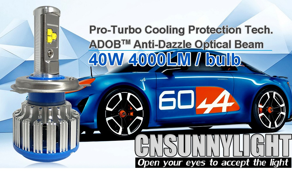 H4 Car Led Headlight High Power Auto H4-3 Hi lo HB2 9003 High Low 40W X2 White 6000K Bulb Repalcement Bi Xenon Headlamp (11)