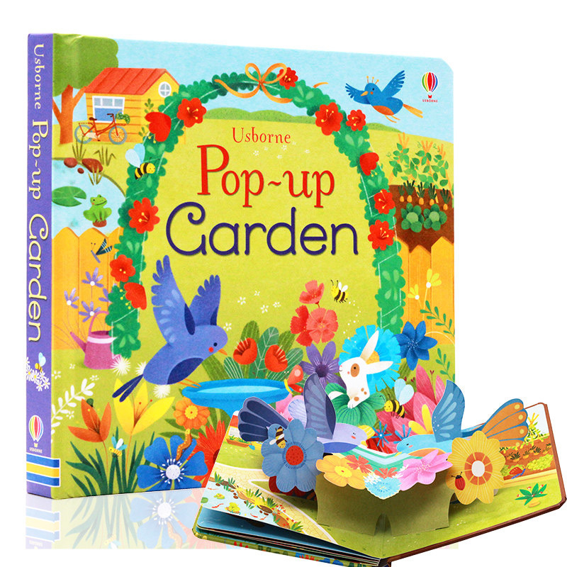 Pop Up Garden English Educational 3D Flap Picture Books Children Kids Reading Book For 3-6 Years Old