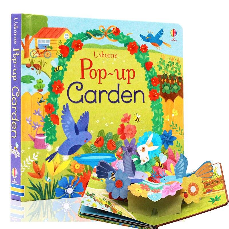 Pop Up Jardim Inglês Educativos 3D Flap Livros Ilustrados para Crianças Crianças Livro de Leitura Para 3-6 Anos de Idade