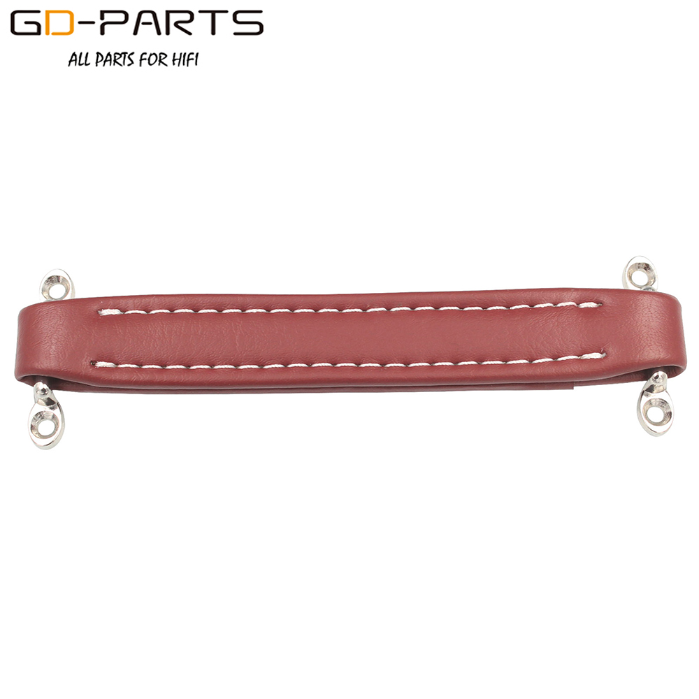 1pc Vintage Red Leather Handle For Guitar Amplifier DIY AMP Bass Cabinet Case
